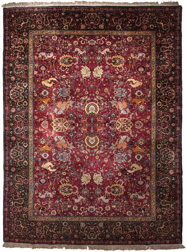 Very Fine Old Indian Carpet at Essie Carpets, Mayfair London