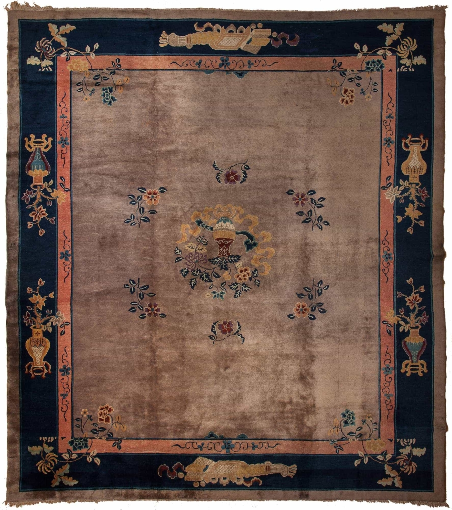 Old Square Chinese Carpet at Essie Carpets, Mayfair London