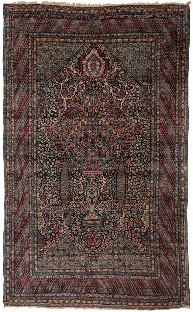 Very Old Extremely Fine Rare Persian Tehran Rug at Essie Carpets, Mayfair London