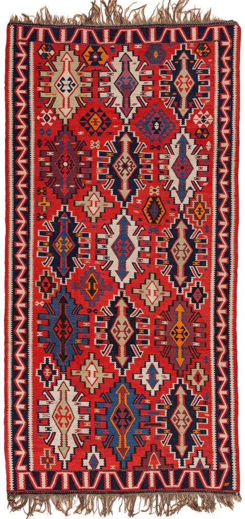 Very Old Russian Kilim at Essie Carpets, Mayfair London