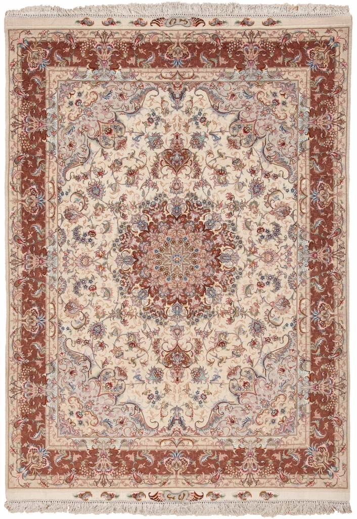 Signed Extremely Fine Tabriz  Rug at Essie Carpets, Mayfair London