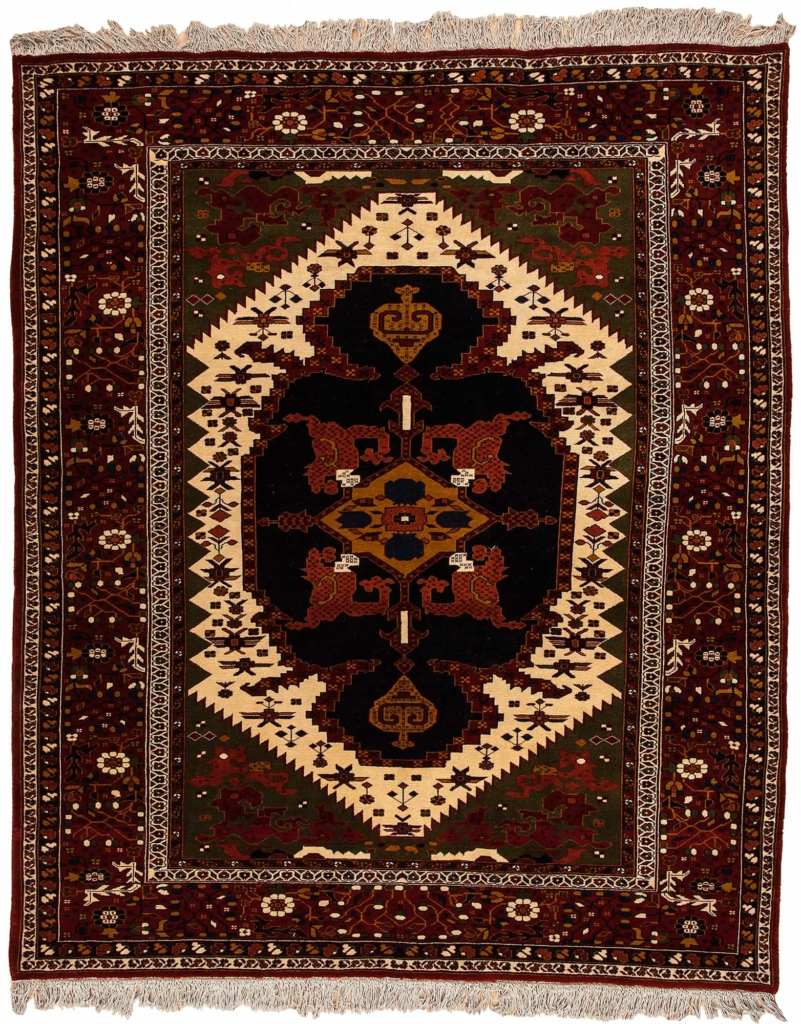 Persian Khorosan Mashad Rug at Essie Carpets, Mayfair London