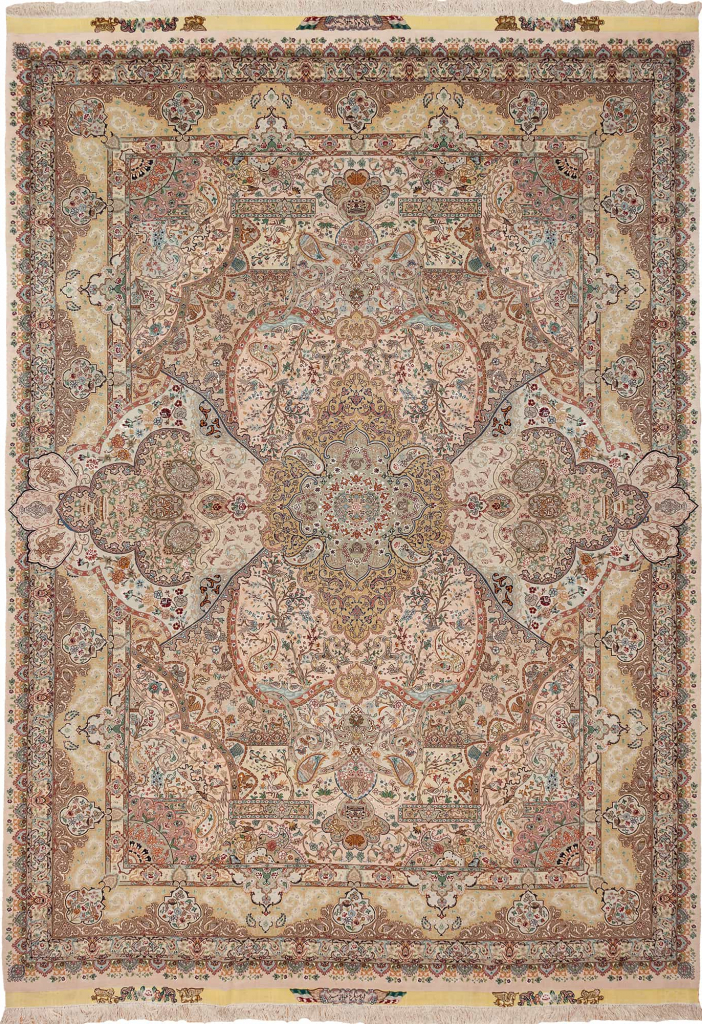 Extremely Fine, Signed Persian Tabriz Carpet at Essie Carpets, Mayfair London
