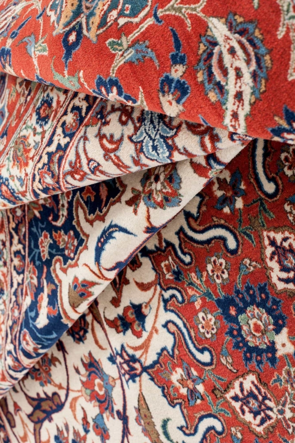 Extremely Fine Esfahan or Isfahan Carpet at Essie Carpets, Mayfair London