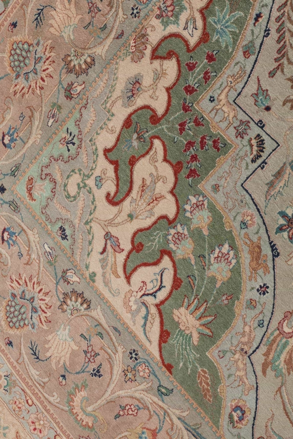 Very Fine Old Tabriz Signed  Rug at Essie Carpets, Mayfair London