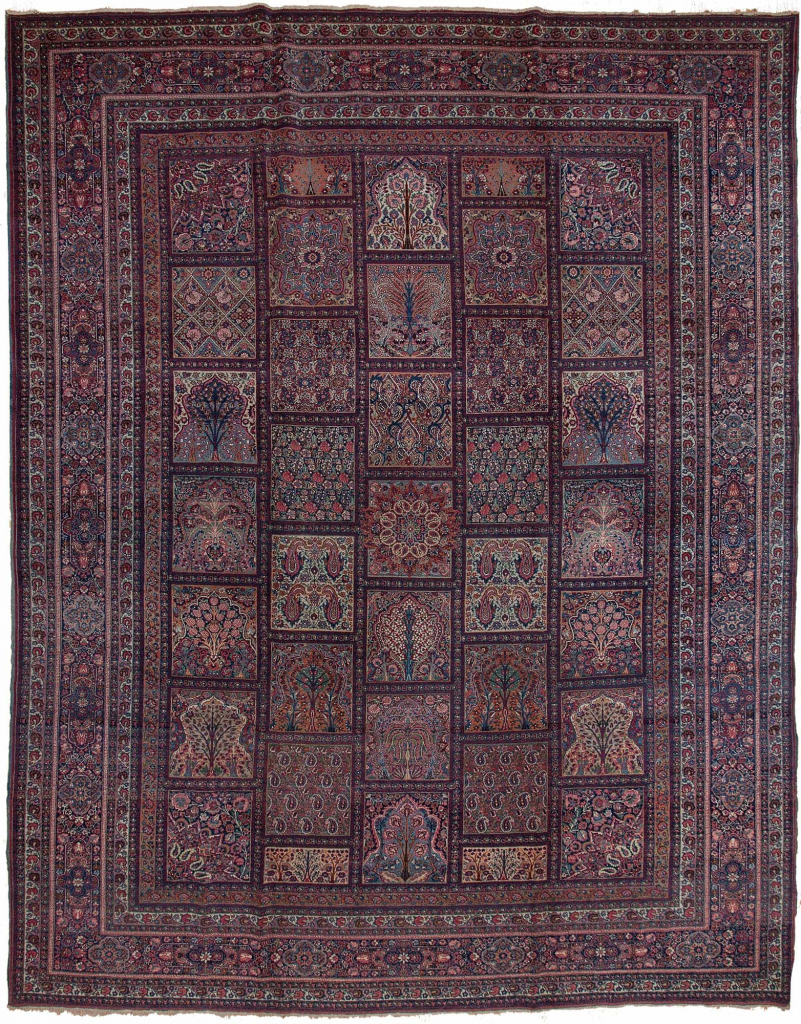 Antique Persian Mashad Carpet at Essie Carpets, Mayfair London
