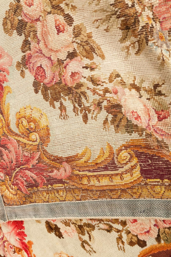 Magnificent Antique English Floral Ex Minister Rug at Essie Carpets, Mayfair London