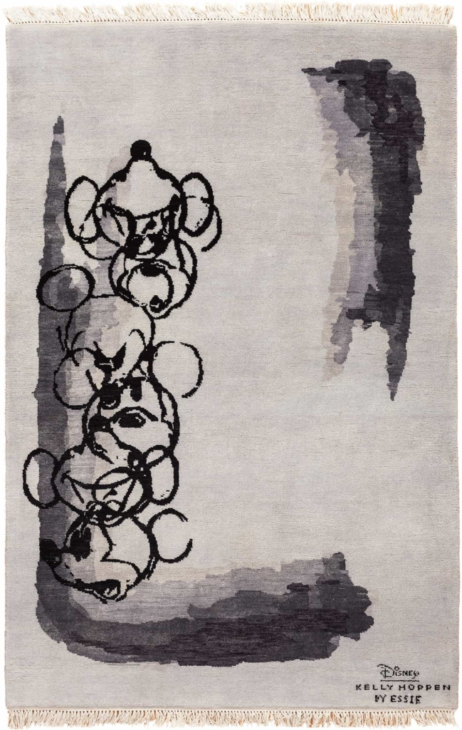 Several Mickey Characters along one Edge Rug at Essie Carpets, Mayfair London