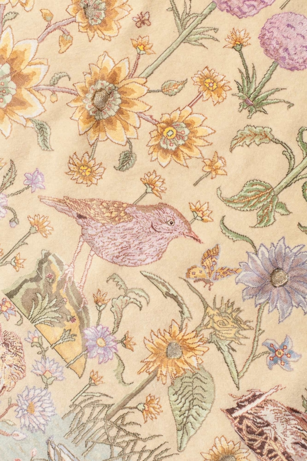 Extremely Fine Signed Persian Tabriz Ducks in the Lake Rug at Essie Carpets, Mayfair London