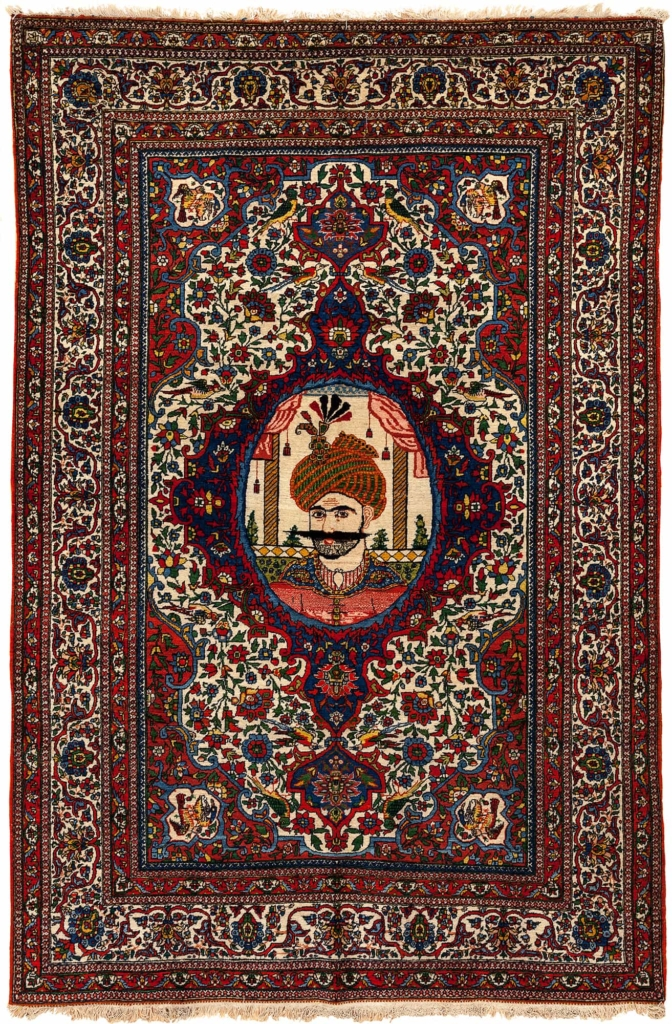 Fine Persian Esfahan Shah Abbass Safavid Rug at Essie Carpets, Mayfair London