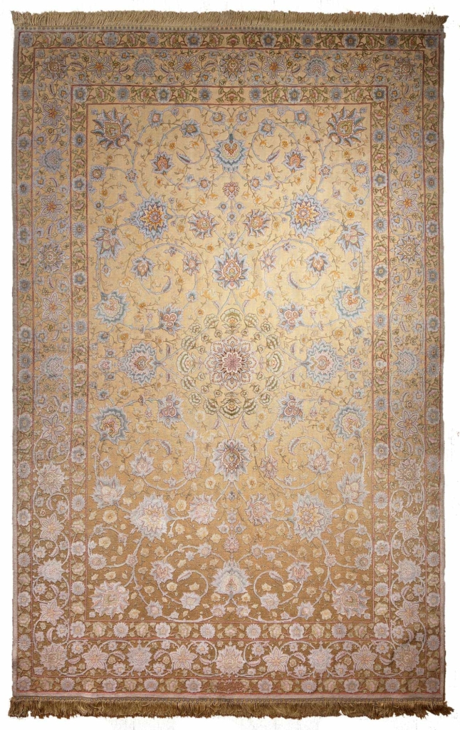 Very Exquisite, Embossed, Unique, Rare and Fine Persian Tabriz  Rug at Essie Carpets, Mayfair London