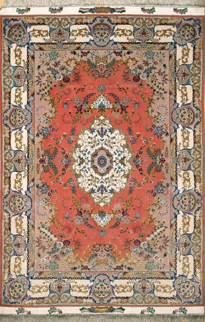 Very Fine Signed Persian Tabriz Rug at Essie Carpets, Mayfair London