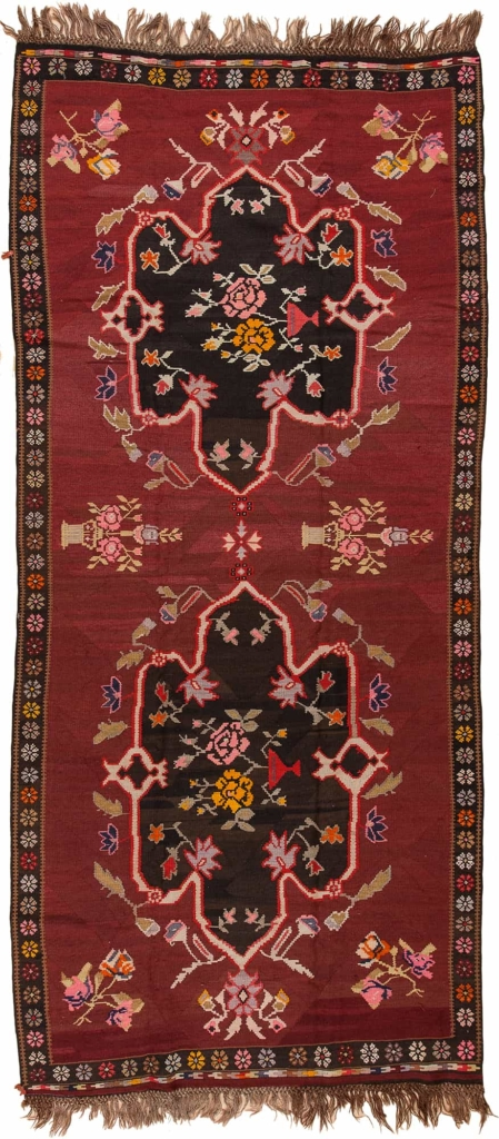Turkish Karabakh  Kilim at Essie Carpets, Mayfair London