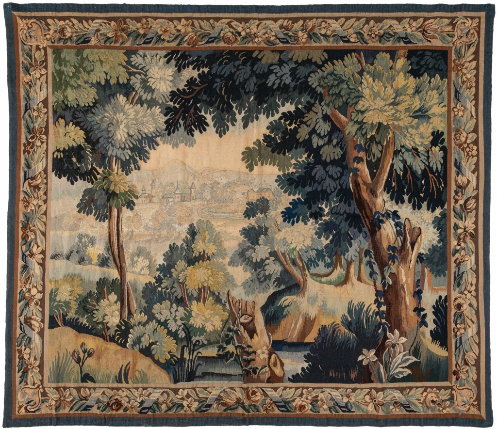 Antique French  Tapestry at Essie Carpets, Mayfair London