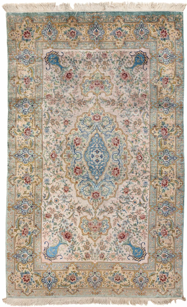 Very Fine, Signed Persian Qum Rug at Essie Carpets, Mayfair London