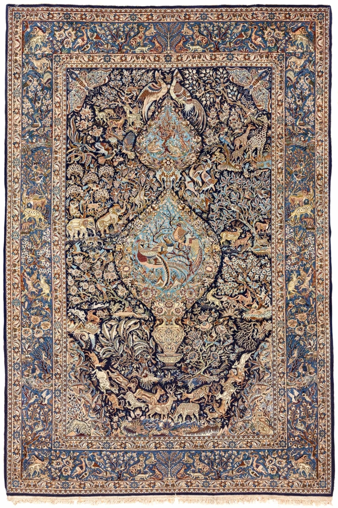 Exquisite Persian Esfahan Rug at Essie Carpets, Mayfair London