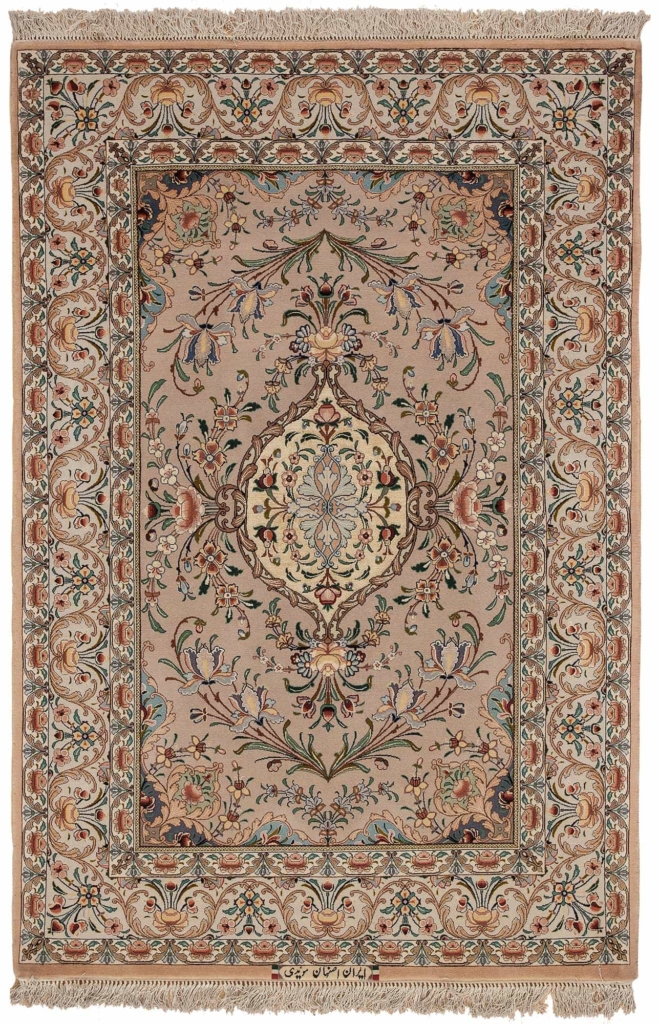 Esfahan Signed Moayedi Rug at Essie Carpets, Mayfair London