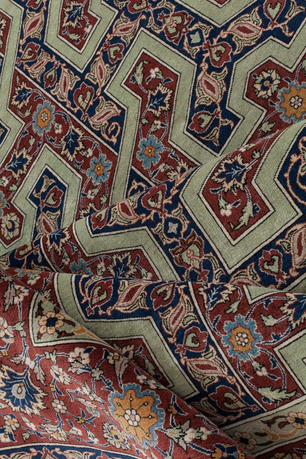 Unusual Fine Persian Esfahan Rug at Essie Carpets, Mayfair London