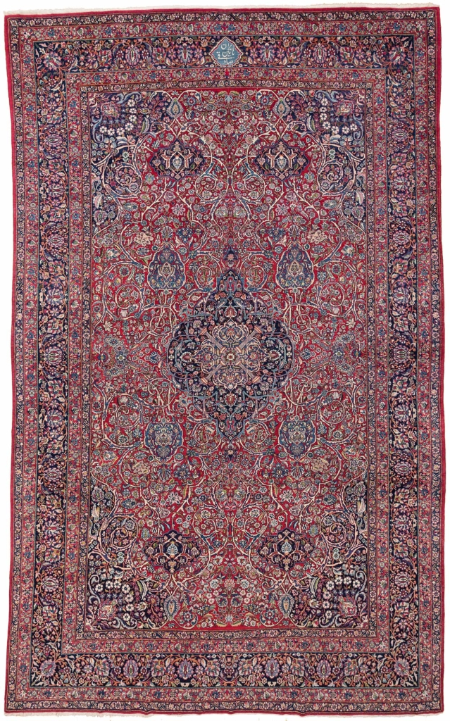 Extremely Fine, Signed Persian Toudeshk Nain Carpet at Essie Carpets, Mayfair London