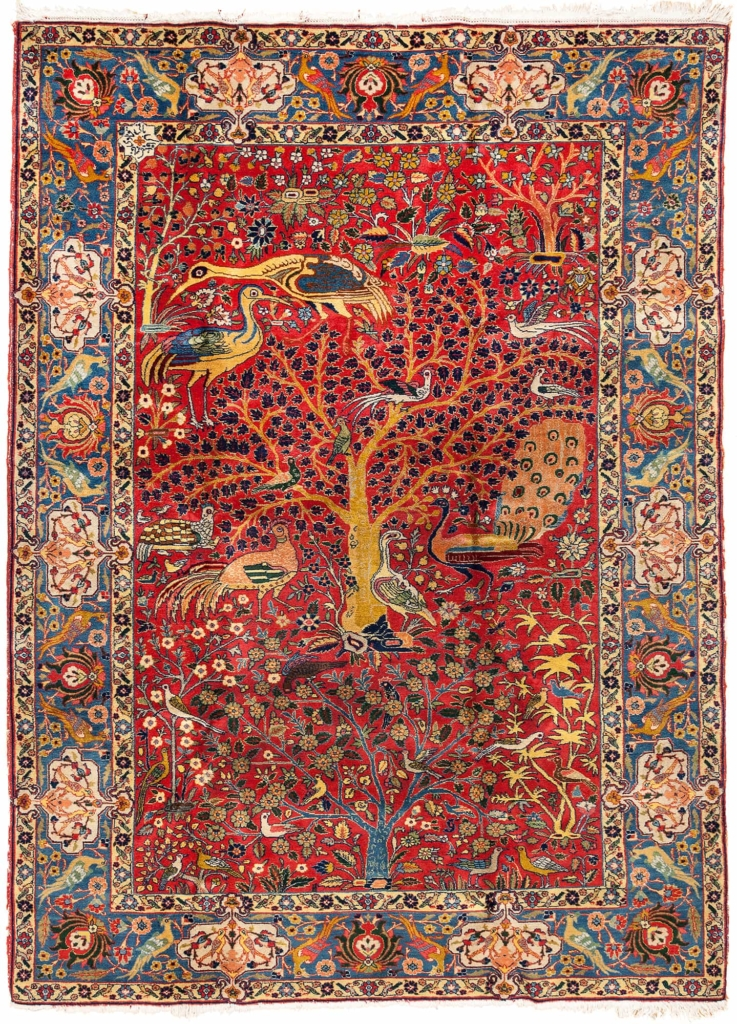 Exquisite Very Fine Persian Tabriz Rug at Essie Carpets, Mayfair London
