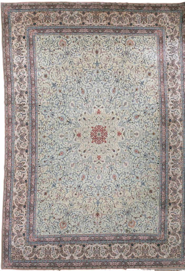 Extremely Fine, Rare Persian Esfahan Carpet at Essie Carpets, Mayfair London
