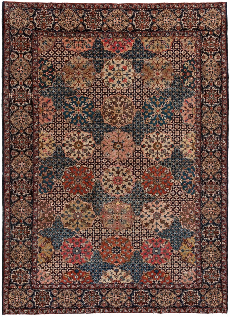 Fine and Very Rare Persian Saruk Rug at Essie Carpets, Mayfair London