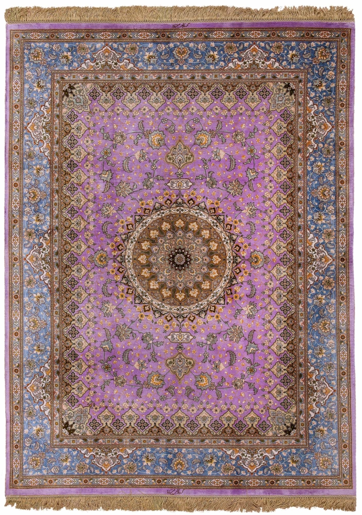 Extremley Fine, Signed Persian Tabriz Rug at Essie Carpets, Mayfair London