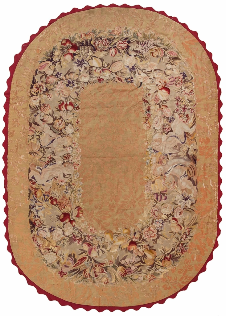 Oval French Tapestry Tapestry at Essie Carpets, Mayfair London