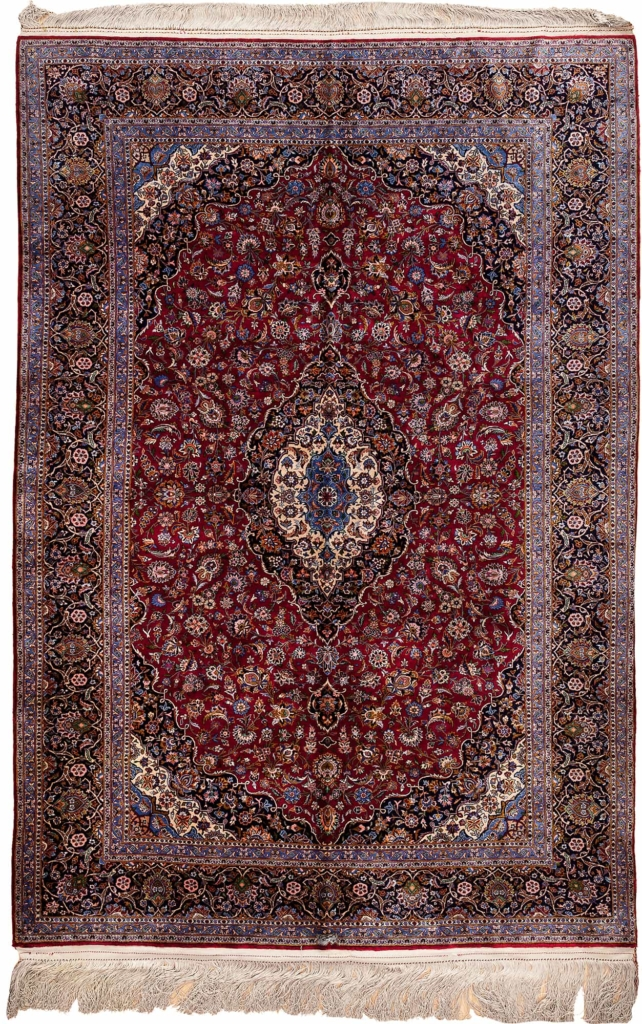 Extremely Fine Persian Kashan Rug at Essie Carpets, Mayfair London
