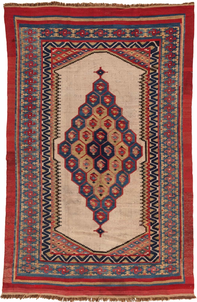 Bakhtiari  Kilim at Essie Carpets, Mayfair London