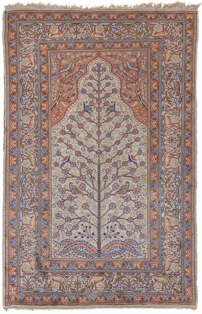 Extremely Fine Turkish Tree of Life Rug at Essie Carpets, Mayfair London