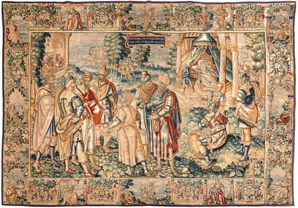 Antique Tapestry Biblical Scene Tapestry at Essie Carpets, Mayfair London