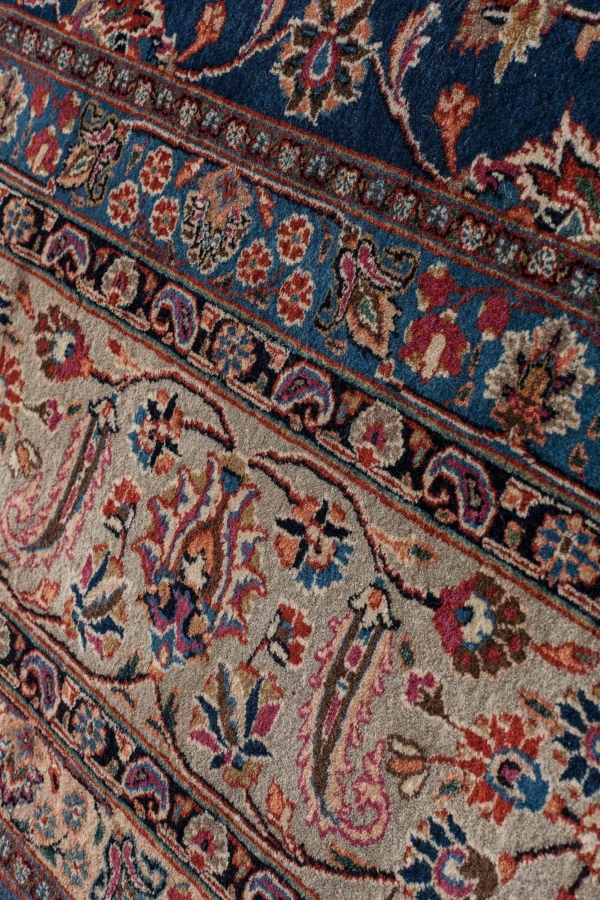 Very Fine Old Persian Mashad Saber Signed Carpet at Essie Carpets, Mayfair London