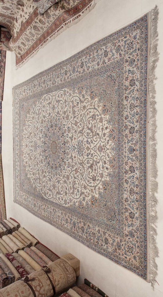 Exquisite, Very Fine, Signed Persian Esfahan Carpet at Essie Carpets, Mayfair London