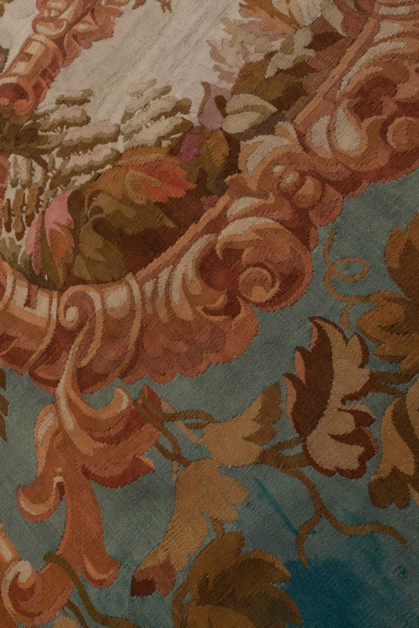 Antique French Aubusson  Tapestry at Essie Carpets, Mayfair London