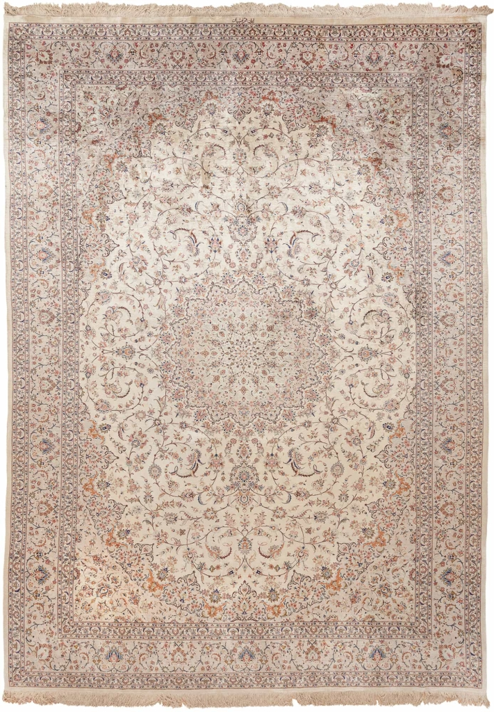 Extremely Fine Signed Persian Qum Carpet at Essie Carpets, Mayfair London