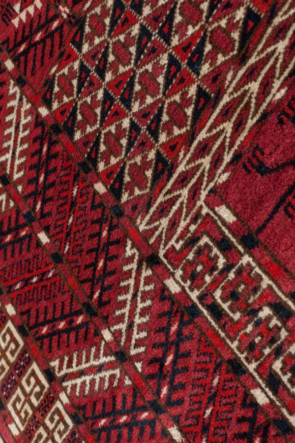 Old Hatchly Yomut Rug at Essie Carpets, Mayfair London