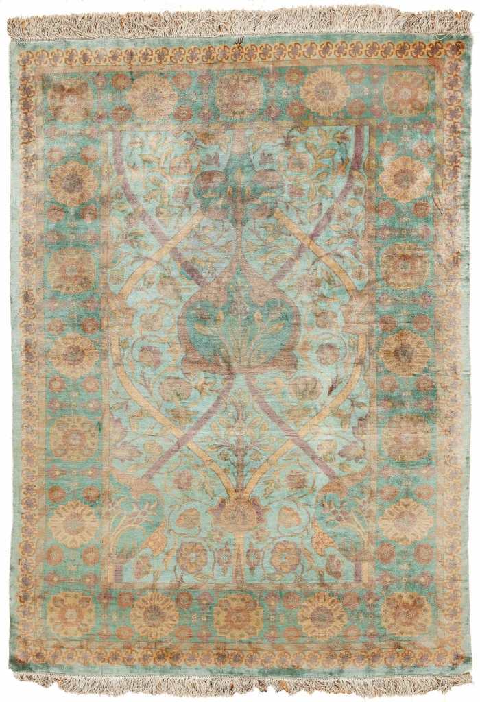 William Morris Persian Tabriz Signed Woven by Special Order Rug at Essie Carpets, Mayfair London