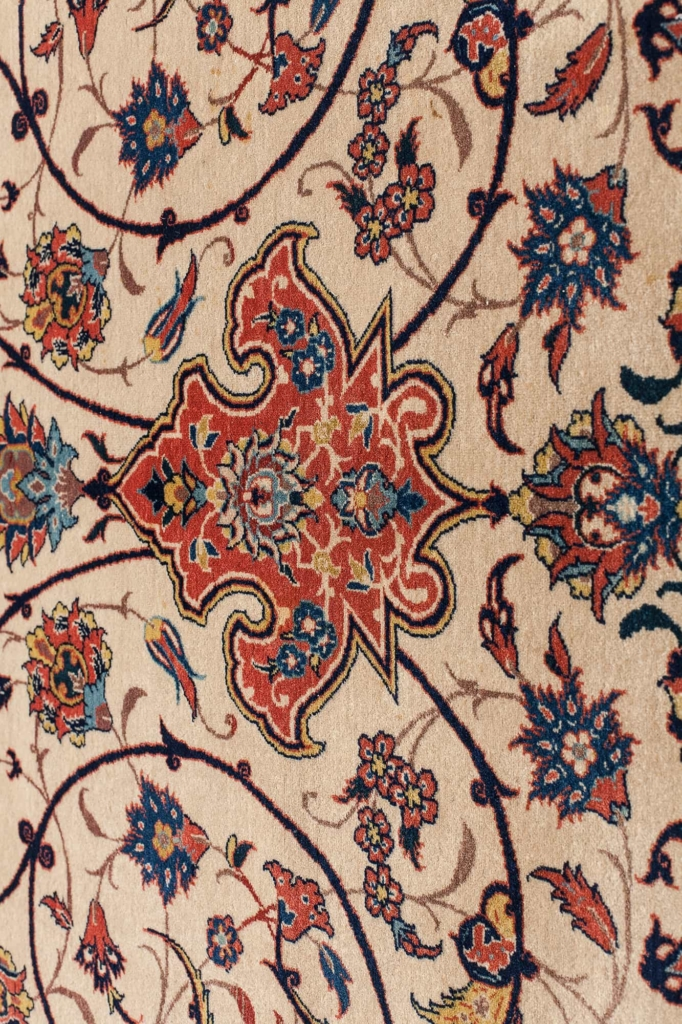 Very Fine Old Persian Esfahan Carpet at Essie Carpets, Mayfair London
