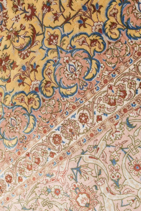 Extremely Fine Silk Kashan Signed Carpet at Essie Carpets, Mayfair London