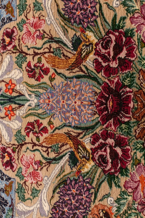 Very Fine Persian Esfahan Signed Rug at Essie Carpets, Mayfair London