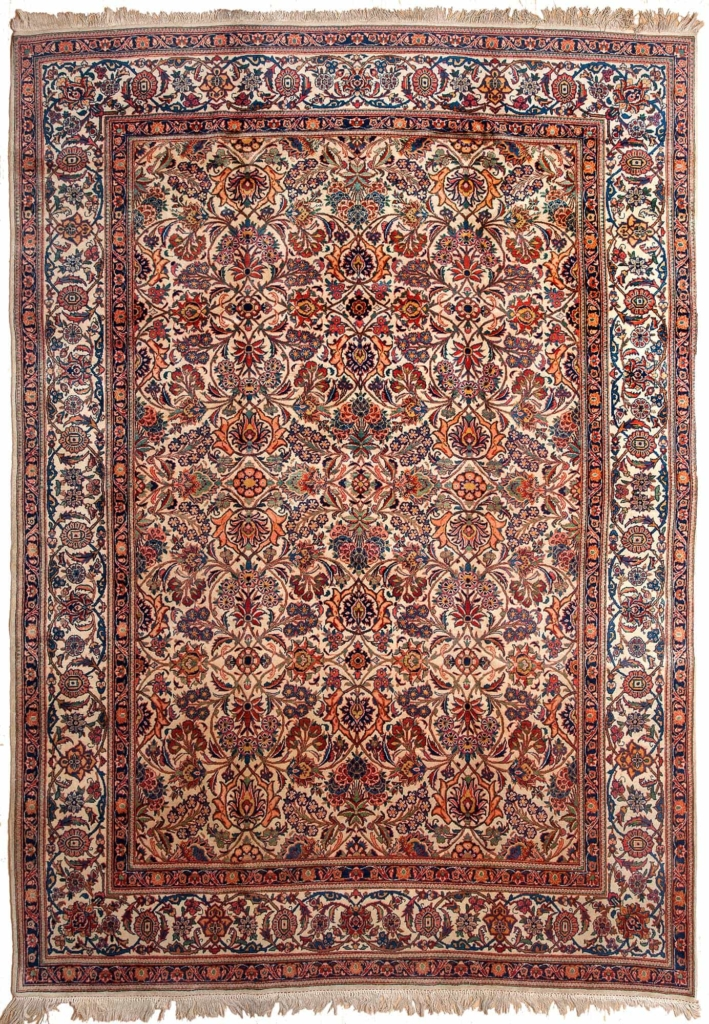 Old Persian Kashan Rug at Essie Carpets, Mayfair London