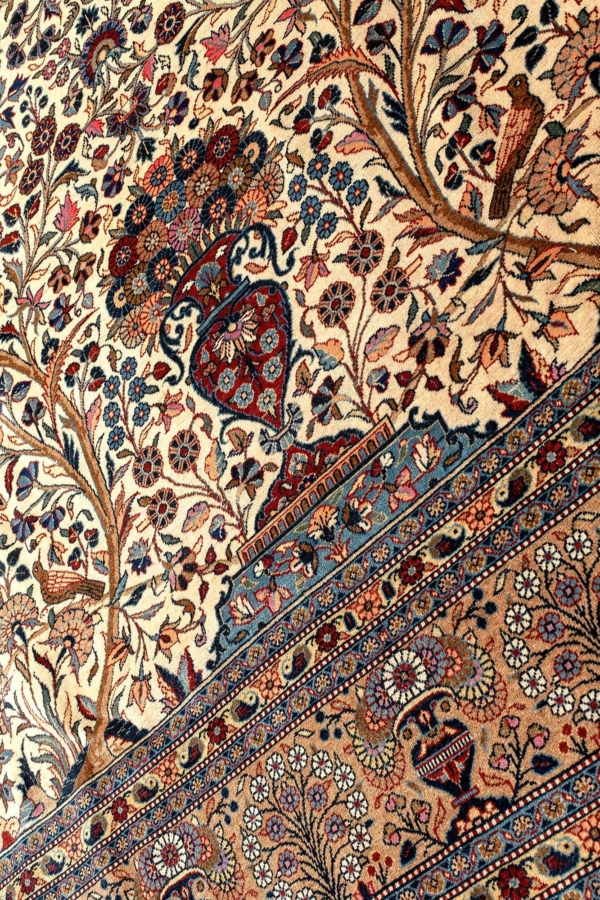 Very Fine Old Signed Persian Kashan Rug at Essie Carpets, Mayfair London
