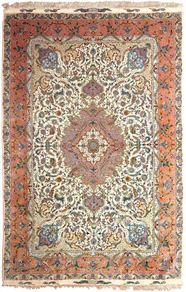 Signed Persian Tabriz Carpet at Essie Carpets, Mayfair London