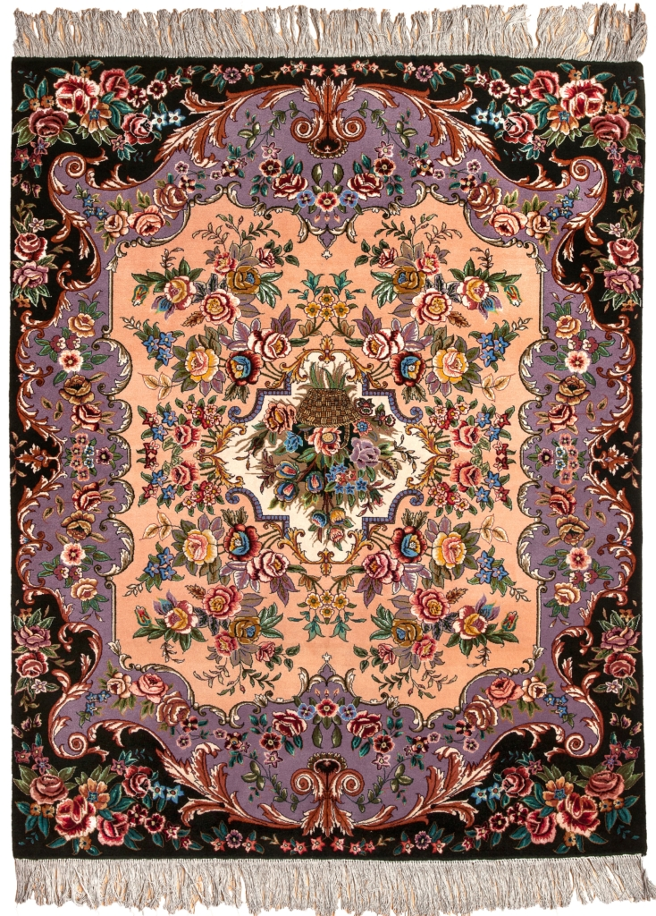 Persian Tabriz Floral Rug at Essie Carpets, Mayfair London