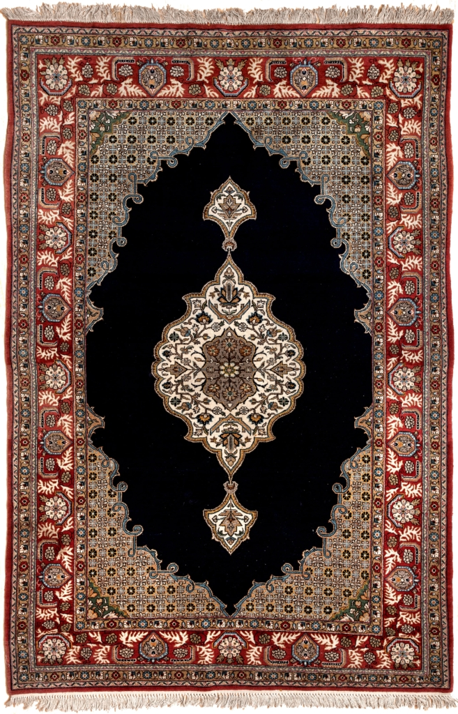 Fine Persian Qum Old Rug at Essie Carpets, Mayfair London