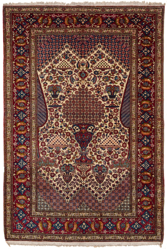 Old Esfahan Rug at Essie Carpets, Mayfair London