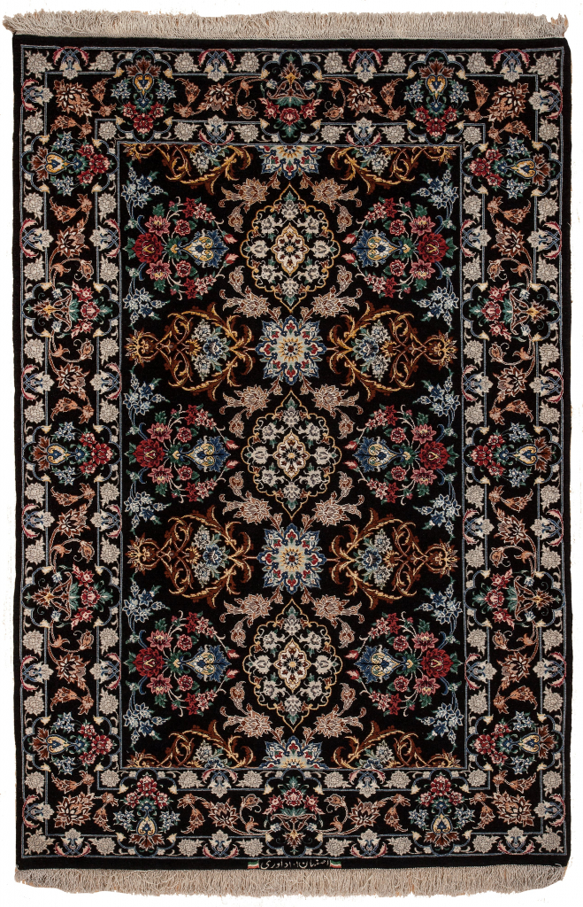 one of Pair, Extremely Fine Persian Esfahan Rug at Essie Carpets, Mayfair London