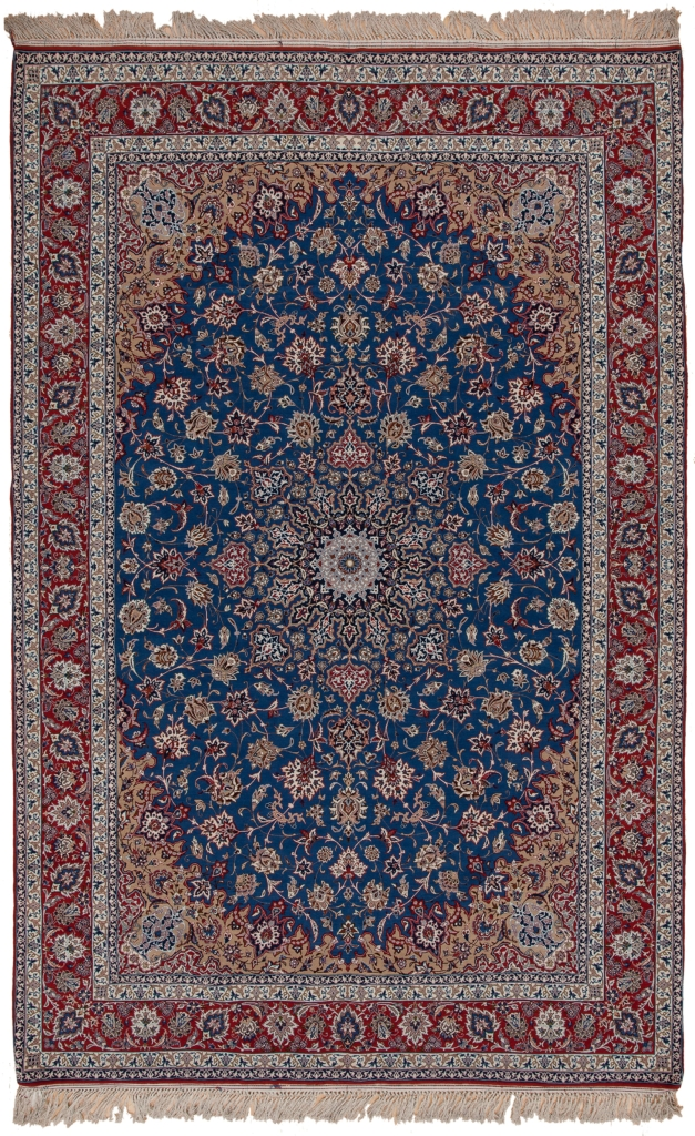 Fine Esfahan Carpet at Essie Carpets, Mayfair London