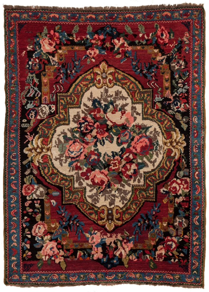 Old Russian Karabakh Rug at Essie Carpets, Mayfair London